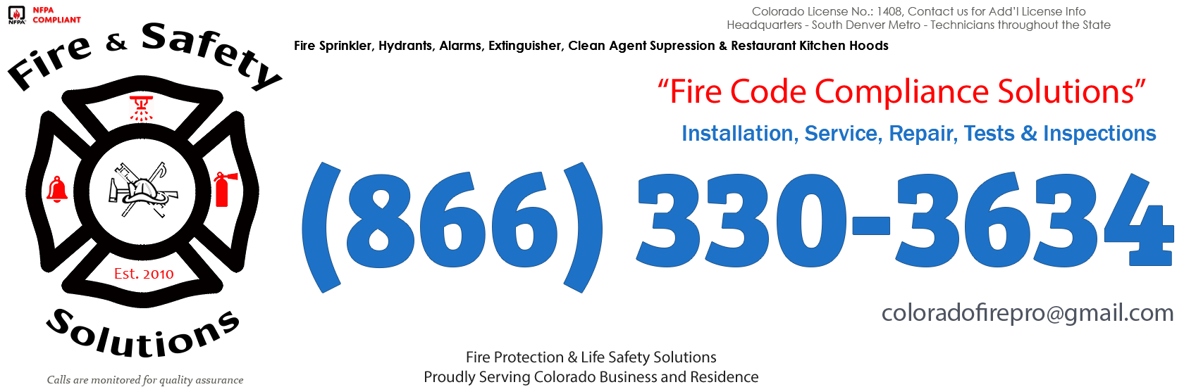 Colorado Springs, Colorado Fire Sprinkler Service Company