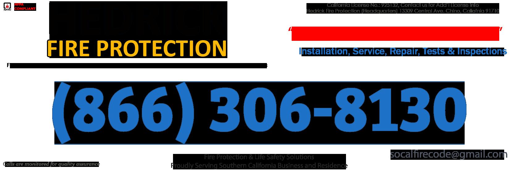 Chatsworth, California Fire Sprinkler Service Company