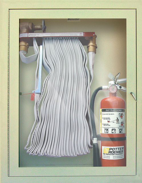Fire Department Connection with Metal Cabinet (Potter Roemer)