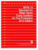 NFPA 15 Standard for Water Spray Fixed Systems for Fire Protection in New York, New York