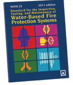 NFPA 25 Standard for the Inspection, Testing, and Maintenance of Water-Based Fire Protection Systems in San Diego, California